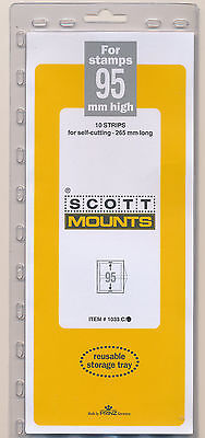 Prinz Scott Stamp Mount 95/265 CLEAR Background Pack of 10
