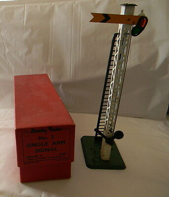 Hornby O Gauge No. 2 Single Arm Signal, Boxed