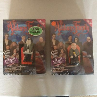 Vintage The Addams Family Creepy Crunch  Cereal Fester & Lurch Sealed 1991