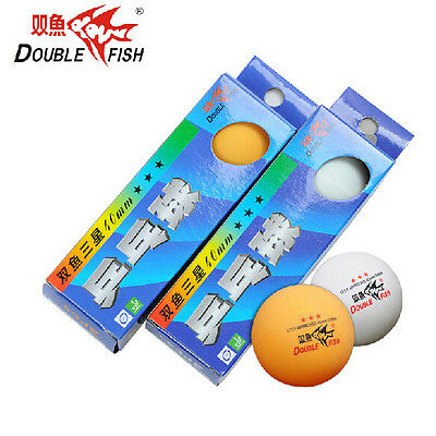 6 Boxes (18 Pcs) Double Fish 3 Stars 40MM Olympic Table Tennis Ping Pong Balls