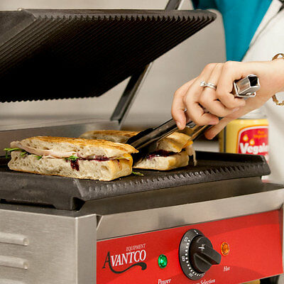 NEW! Avantco P78 Grooved Commercial Counter Panini Press Sandwich Grill Pro