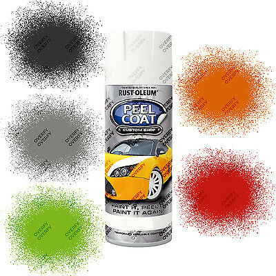 Rust-Oleum Rubberised Peel Coat Peelable Aerosol Spray Paints Matt 400ml Car