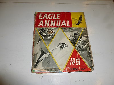EAGLE ANNUAL - 1961 - UK Comic Annual (With Dust Jacket)