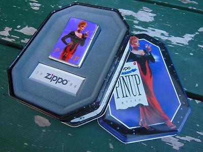 Zippo Lighter 1996 Collectible Of The Year Joan Pinup Girl Purple New + Tin