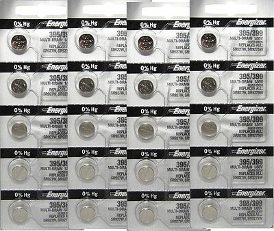 20 Pcs Energizer 395 399 SR927SW SR927W Watch Battery