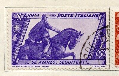 Italy 1932 Early Issue Fine Used 0.50L. 091249