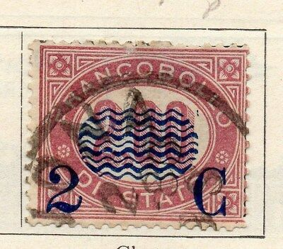 Italy 1878 Victor Early Issue Fine Used 2c. Surcharged 091409