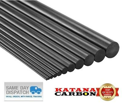 2 x Diameter 1mm x Length 800mm (0.8 m) Premium 100% Carbon Fiber Rod (Pultruded
