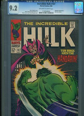 The Hulk #107 Hi Grade 9.2 Cgc Mandarin App. Severin Cover Trimpe Art