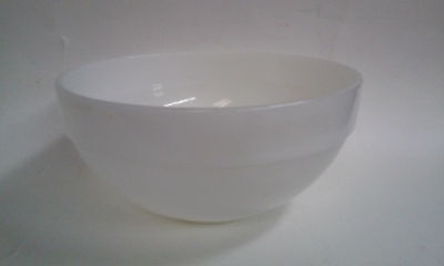 Anchor Hocking Fire King White Colonial Band Mixing Bowl