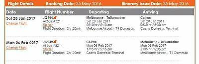 CHEAP PLANE TICKETS x 2- FROM MELBOURNE TO CAIRNS