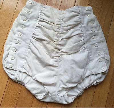 WOMENS VINTAGE 1940s 50s SEXY BETTY GRABLE STYLE IVORY BUTTON UP COTTON SHORTS