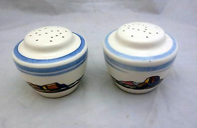 Vernon Kilns Salamina by Rockwell Kent Pair Salt and Pepper Shakers