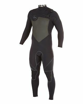 NEW QUIKSILVER™  Mens AG47 Performance 3/2mm Chest Zip Steamer Wetsuit Surf