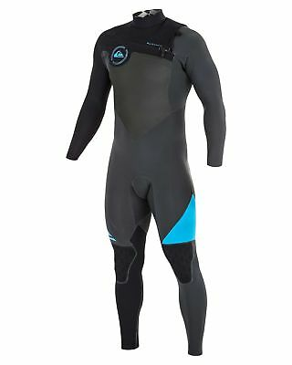 NEW QUIKSILVER™  Mens AG47 Performance 2/2MM Chest Zip Steamer Wetsuit Surf