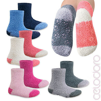 2 Paar Kinder Kuschelsocken Wintersocken Bettsocken Softsocks Soft Gr 23-38