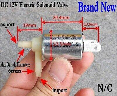 12V DC Micro Electric Solenoid Valve N/C Normally Closed for Gas Air Water Valve