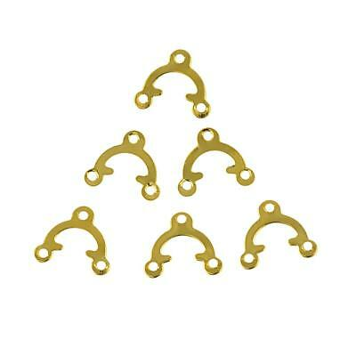 100pcs Vintage Style Antique Bronze Triangle Connector Pendant Jewelry Findings