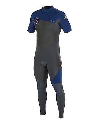 NEW QUIKSILVER™  Mens Syncro 2/2MM GBS Short Sleeve Steamer Wetsuit Surf