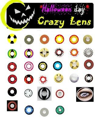 SALE Coloured Contact Lenses Kontaktlinsen Crazy color contacts lens halloween
