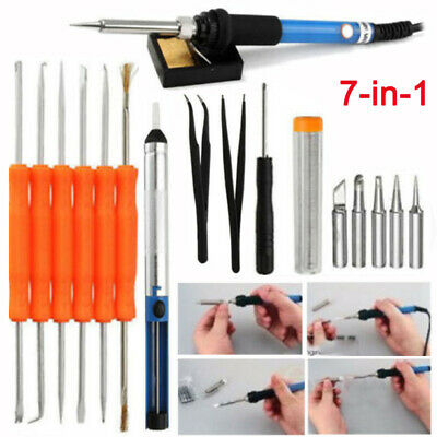 110V 60W Electric Temperature Welding Soldering Iron Gun Adjustable With 5Tips