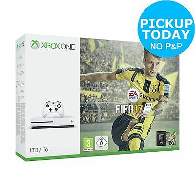 Microsoft Xbox One S 1TB Console with FIFA 17 Bundle - White -From Argos on ebay