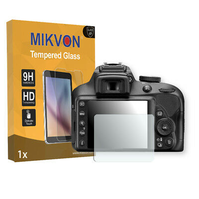 1x Mikvon Tempered Glass 9H for Nikon D3400 Screen Protector Retail Package