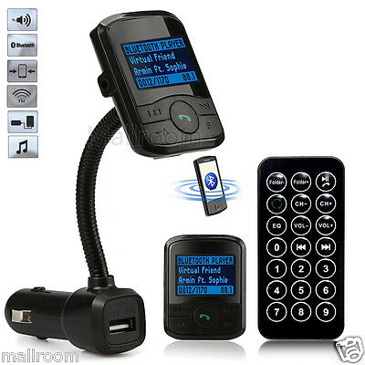 Bluetooth Auto FM Transmitter Modulator Handsfree Car MP3 Player USB SD MMC KFZ