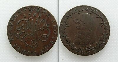 Collectable 1788 Druids Head Halfpenny Token - Anglesey Mines