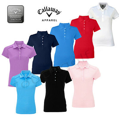 Callaway Golf Women/Ladies Short Sleeved Golf Polo Shirt -CGKS4086 - New.