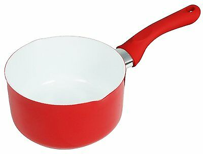 Buckingham CeramicCoated Non-Stick Induction Milk Pan, 14cm, RED, RRP £12.99
