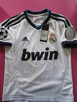 BNWT REAL MADRID 2012-13 Home CHAMPIONS LEAGUE SHIRT JERSEY YOUTH BOYS SIZES
