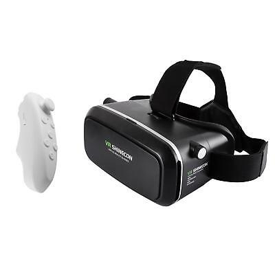 Virtual Reality VR Brille Headset für Smartphone 3D Filme Gaming inkl Controller