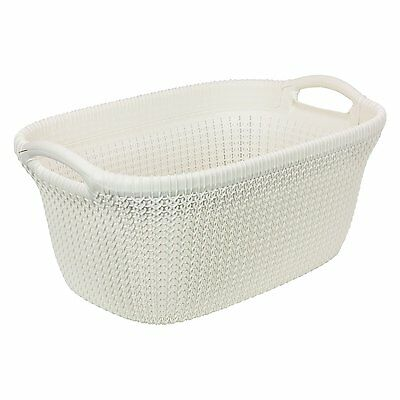 CURVER Knit Style Laundry Basket, 40 L, White
