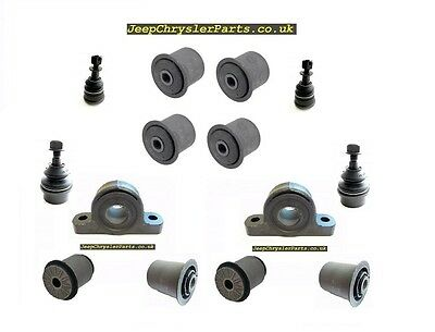 14pcs FRONT SUSPENSION BUSHING KIT + BALL JOINTS - JEEP GRAND CHEROKEE WK 05-10