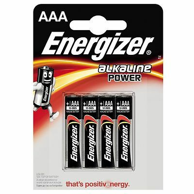 4 x AAA Energizer Alkaline Batteries AM3 LR03 Power Mini Stilo Micro