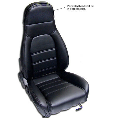 Mazda Miata 1990-96, Pair of Front Seat Covers / Kit for Standard Seats, Black