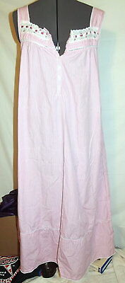 1a3ea0ca26c3 Secret treasures intimates pink gingham house dress M 8/10 nightgown gown  (C94)