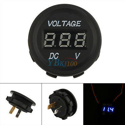 12V-24V Car Motorcycle LED DC Digital Display Voltmeter Waterproof Meter