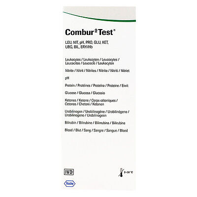 New 50pc Combur-9 Test Urine Examination Absorbent Highly Sensitive Strip