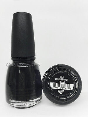 China Glaze Nail Lacquer-  Black Liquid Leather 544/ 70576 - 0.5 oz