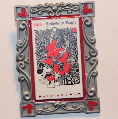 Disney Parks 2013 Poster Art Series May Mickey Mouse Believe In Magic LE Pin