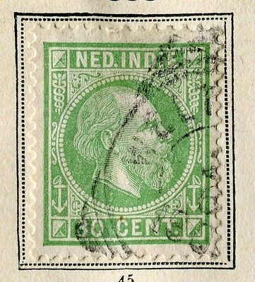 NETHERLANDS INDIES;  1887 early classic William issue fine used 30c. value