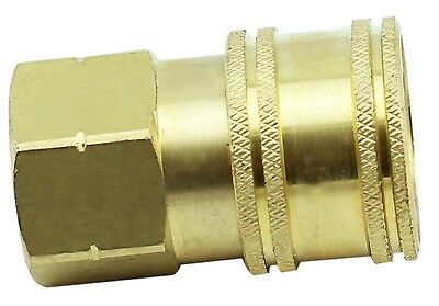 """Brass Ball Quick Connect Fitting - 1/4"""" Female x 1/4"""" Female BSP - 3600PSI"""