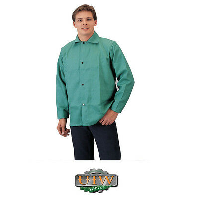 Welding Jacket 4XL / XXXXL - Tillman Green 9oz FR Cotton 6230