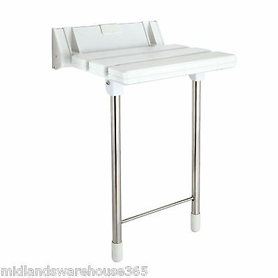 Luxury Shower Seat with Stainless Steel Legs