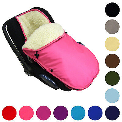 Winter Footmuff Foot Muff for carry cot Maxi Cosi many colors with wool NEW