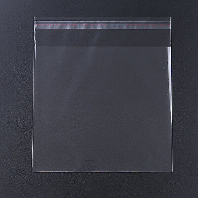 100pcs Hotsale Clear Self Adhesive Plastic Bag For Jewelry Packaging 16x18cm J