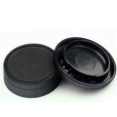 Black Body Front + Rear Lens Cap Cover For Nikon AF AF-S Lens DSLR SLR Camera FT