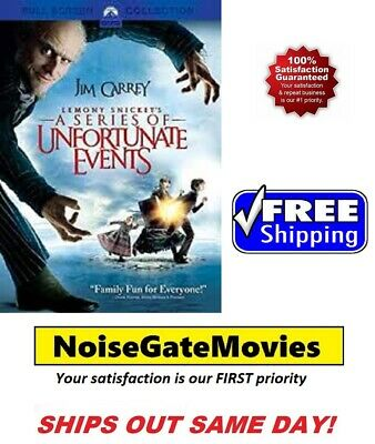 Lemony Snicket's A Series of Unfortunate Events (DVD, Full Screen) Free Shipping